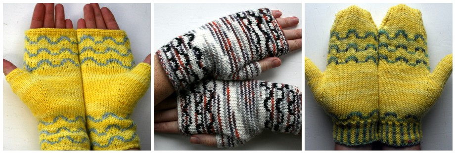 ripple handwarmers and mittens